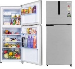 Panasonic 268 L Frost Free Double Door 3 Star Refrigerator  (Shining Silver, NR-FBG27VSS3) for Rs.20,490 – Flipkart