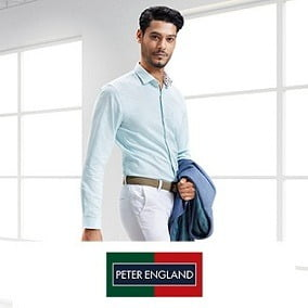 Peter England Men's Clothing 70% off @ Amazon