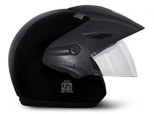 Vega Cruiser CR-W/P-K-M Open Face Helmet (Black, M) for Rs.631 – Amazon