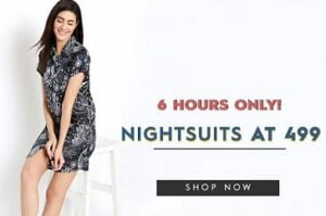 Women's Nightsuits upto 73% off starts from Rs.499 – Clovia