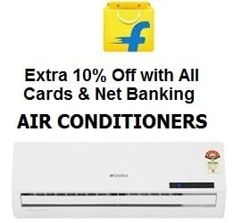 Air Conditioners: Upto 55% Off+ Extra 10% Off with All Credit / Debit CARDS / Net Banking / EMI@ Flipkart
