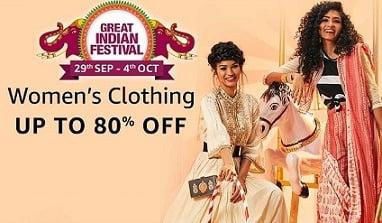 Women's Clothing (Ethnic & Western) – Minimum 50% Off @ Amazon