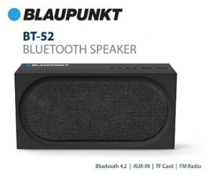 Flat 71% Off – Blaupunkt BT-52-BK 10W Portable Outdoor Bluetooth Speaker for Rs.999 – Amazon