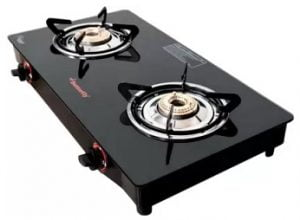 Butterfly Rapid Glass Manual Gas Stove (2 Burners)