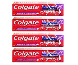 Colgate Maxfresh Spicy Fresh Red Gel Toothpaste (150 g x 4)