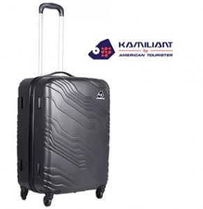Flat 70% off on Kamiliant Kanyon Hard Trolley 65 cm (Grey) Check-in Luggage – 26 inch for Rs. 2820 – Flipkart