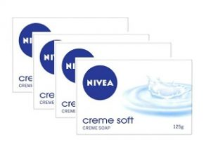 Flat 35% off – NIVEA Soap, Creme Soft, 125g (Pack of 4) for Rs.146 @ Amazon