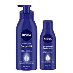 Nivea Body Nourish Body Lotion 400ml and Body Lotion 120ml