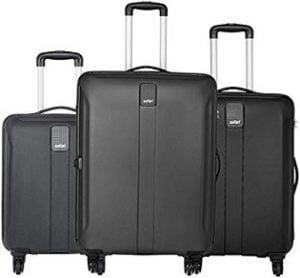 Flat 70% off – Safari Thorium Sharp Anti-Scratch Combo Set of 3 (Small, Medium & Large) Check-in 4 Wheel Hard Suitcase for Rs.9,199 – Amazon