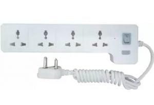 Syska 4 Way Power Strip 4 Socket Surge Protector for Rs.229 – Flipkart