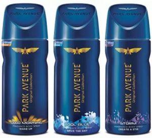 Park Avenue Deodorant Spray (150ml x 3) for Rs.266 – Flipkart