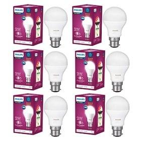 Philips Base B22 9-Watt LED Bulb (Pack of 6, Cool Day Light) for Rs.589 – Amazon