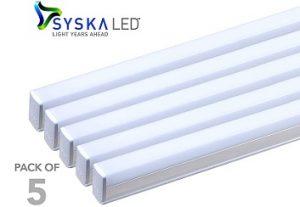 Syska SSK-T5-18 Watt LED Tube Light (Pack of 5) for Rs.999 – Amazon