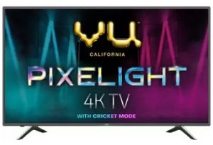 Vu Pixelight 126cm (50 inch) Ultra HD (4K) LED Smart TV with cricket mode  (50-QDV) for Rs.26,999 – Flipkart (Valid on Pre-paid Order)