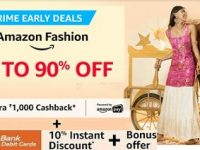 Amazon Great Indian Festival – Upto 90% Off on Clothing, Footwear & Accessories + 10% Off with ICICI Cards + Rs.1000 Back as Amazon Pay Balance