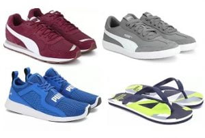Puma Shoes – 75% off +10% Extra off with SBI Credit Card @ Flipkart (Limited Period Deal)