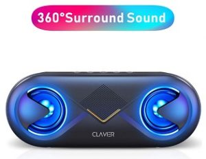 Clavier Portable Bluetooth 5.0 Wireless Speakers with 10W HD Sound and Rich Bass, 12H Playtime, Built-in Mic for iPhone & Android for Rs.1,199 – Amazon