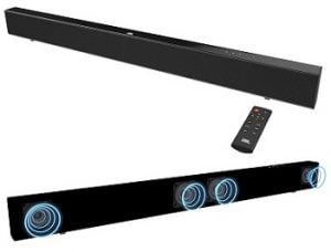JBL SB110 Powerful Wireless Soundbar with Built-in Subwoofer (110 Watts, 4 Woofers, Dolby Digital Sound) for Rs.7,499 – Amazon