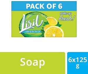 Liril Lemon & Tea Tree Oil Soap 125 g x 6 worth Rs.306 for Rs.153 – Amazon