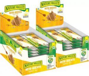Nature Valley Nutri Biscuits – Honey Oat (600 g, Pack of 24) for Rs.99- Flipkart