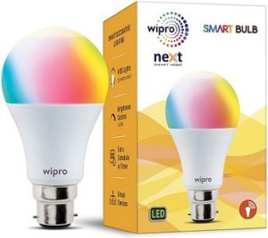 Wipro WiFi Enabled Smart LED Bulb B22 12-Watt (16 Million Colors + Warm White/Neutral White/White) (Compatible with Amazon Alexa and Google Assistant) for Rs.699 – Amazon