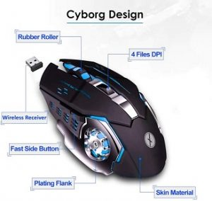 Xmate Zorro Pro 3200DPI, Rechargeable 2.4Ghz Wireless Gaming Mouse for Rs.799 – Amazon
