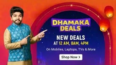 Dhamaka Deals on Mobile Laptops TV Clothing Home & more @ Flipkart