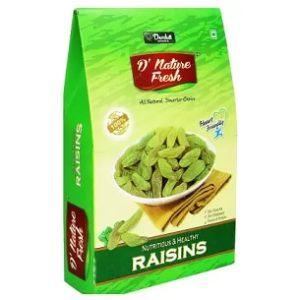 Steal Deal: D NATURE FRESH Green Raisins 500gm (Box) for Rs.149 – Flipkart