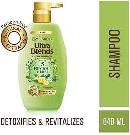 Garnier Ultra Blends Shampoo, 5 Precious Herbs, 640ml worth Rs.425 for Rs.212 – Amazon