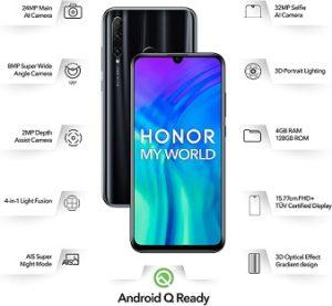 Honor 20i (4GB, 128GB Storage, Triple AI Camera)