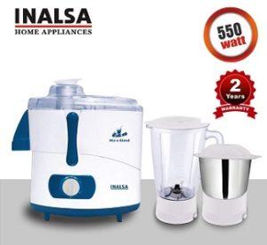 INALSA Juicer Mixer Grinder Mix N Blend 550W