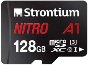 Strontium Nitro A1 128GB Micro SDXC Memory Card 100MB/s A1 UHS-I U3 Class 10 with High Speed Adapter for Smartphones Tablets for Rs.1,199 – Amazon