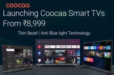 Coocaa Smart LED TV – 50% – 65% off + Extra 10% off @ Flipkart
