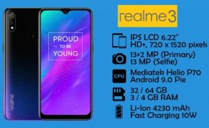 Realme 3 Mobile: Get 10% Extra Off on Pre-paid Order (Valid till 18th Nov)