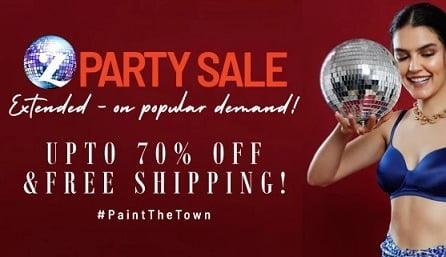 Zivame Party Sale – upto 70% off on Women's Inner Wear