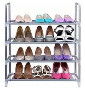 CMerchants Metal Shoe Rack (Silver, 4 Shelves) for Rs.449 – Flipkart