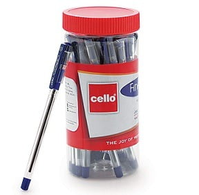 Cello Finegrip Ball Pen – 25 pens Jar worth Rs.175 for Rs.98 – Amazon