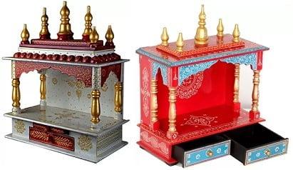 Home and Bazaar Solid Wood Home Temple upto 83% off @ Flipkart