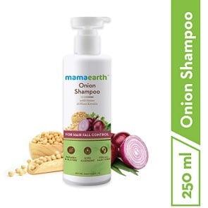 Mamaearth Onion Hair Fall Shampoo with Onion Oil 250ml – Rs.297 – Amazon