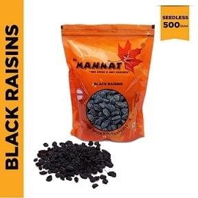 Mannat Afghan Black Raisins (Seedless), 500g