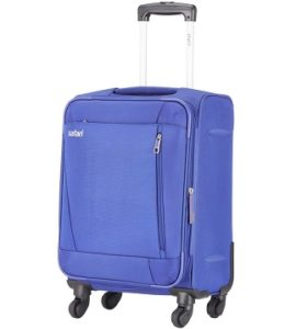 Safari Savage 77 Cms Polyester 4 wheels Soft Trolly Suitcase Rs.3232 – Amazon