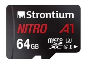 Strontium Nitro A1 64GB Micro SDHC Memory Card Class 10 for Rs.564 @ Amazon