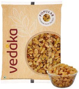 Vedaka Popular Raisins, 1kg for Rs.365 – Amazon