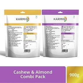 Karmiq Almonds 500 Gr & Cashew 400 Gr for Rs.649 – Amazon