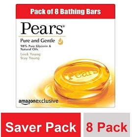 Pears Pure and Gentle Bathing Bar 125g X 8 for Rs.296 – Amazon Pantry