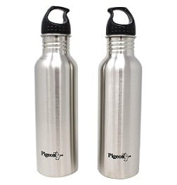 Pigeon by Stovekraft Stainless Steel Water Bottle, 750ml (Set of 2) for Rs.393 – Amazon