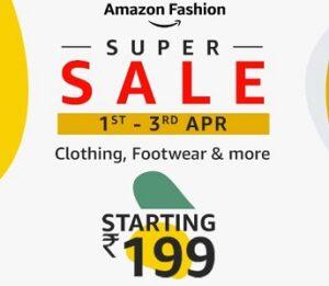 Amazon Fashion Super Sale: Minimum 60% Off on Fashion Style