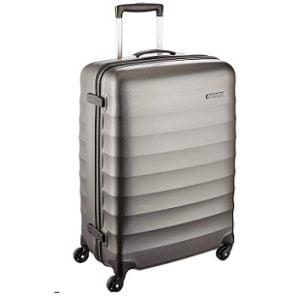 American Tourister 55 cms Gunmetal Hardsided Suitcase