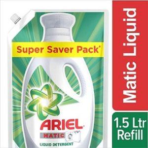 Ariel Matic Liquid Detergent 1.5 Litre for Rs.218 – Amazon