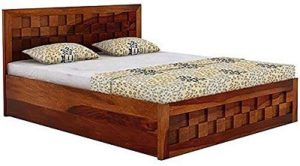 BL Wood Furniture Sheesham Wood King Size Storage Bed